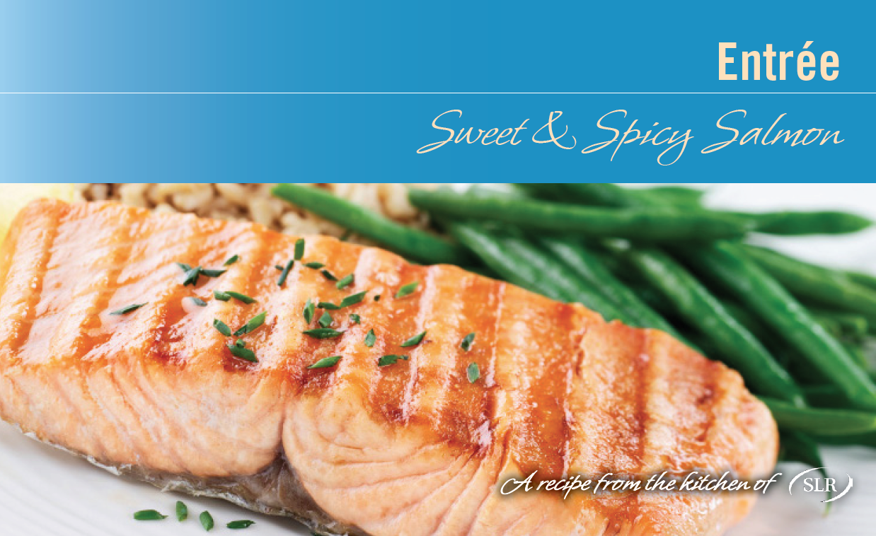 Sweet & Spicy Salmon recipe card