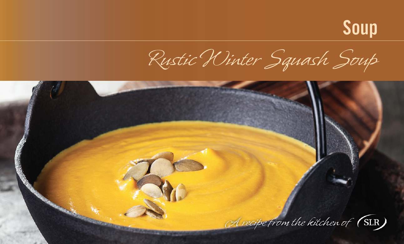 Rustic Winter Squash Soup with Roasted Pumpkin Seeds recipe card