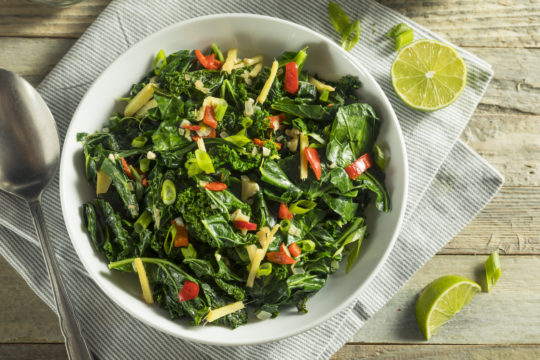 Stewed Kale and Tomatoes