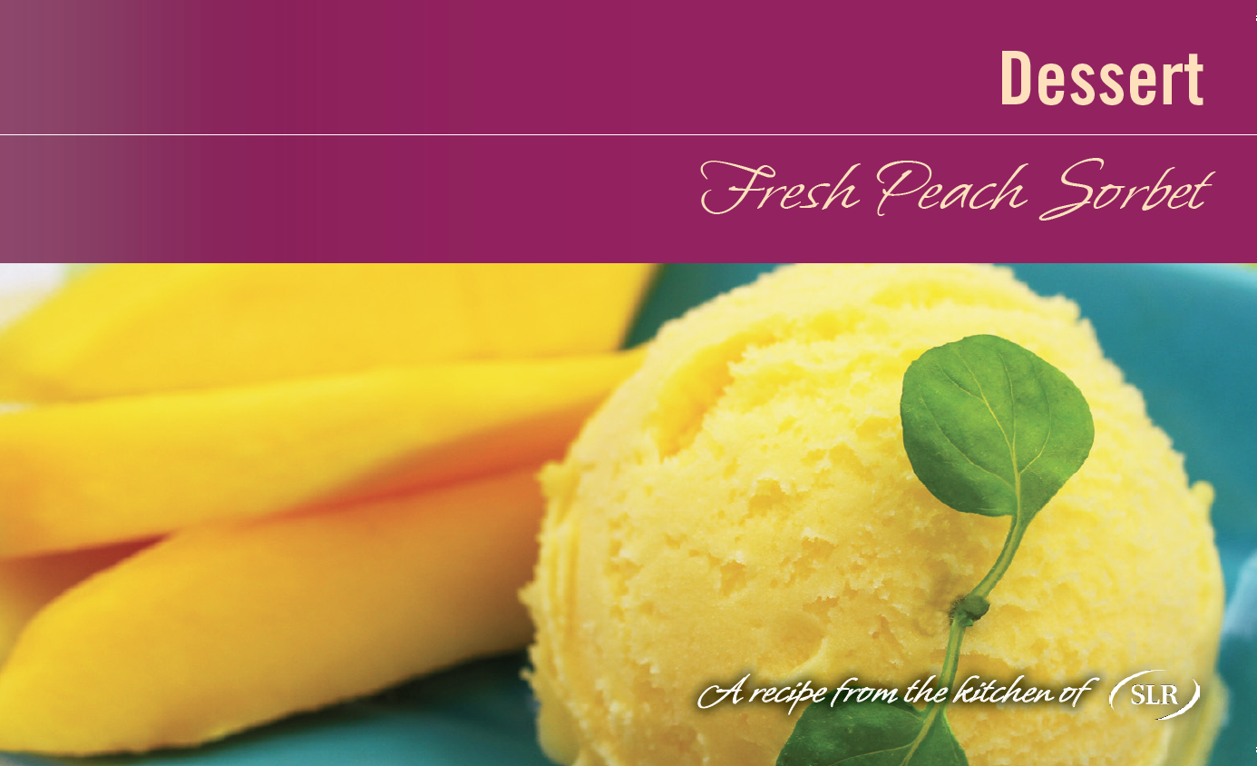 Peach Sorbet recipe card