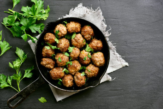 Savory Turkey Meatballs with Mint Infused Gravy