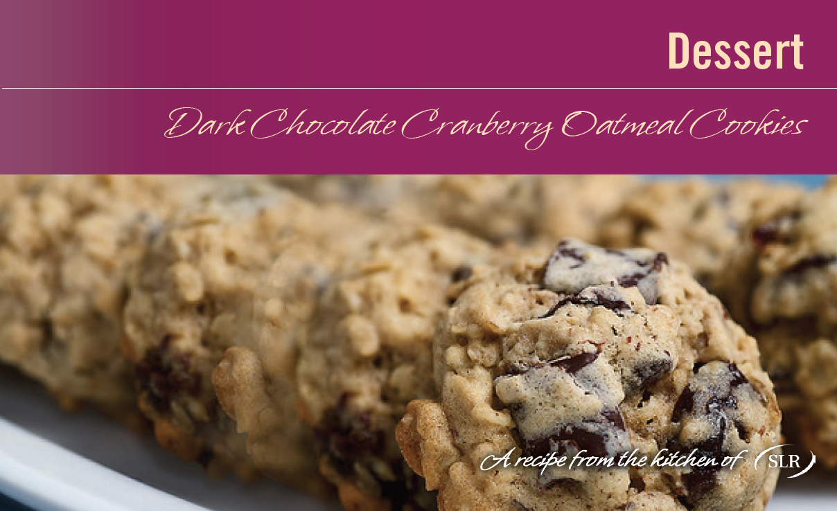 Dark Chocolate Cranberry Oatmeal Cookies recipe card