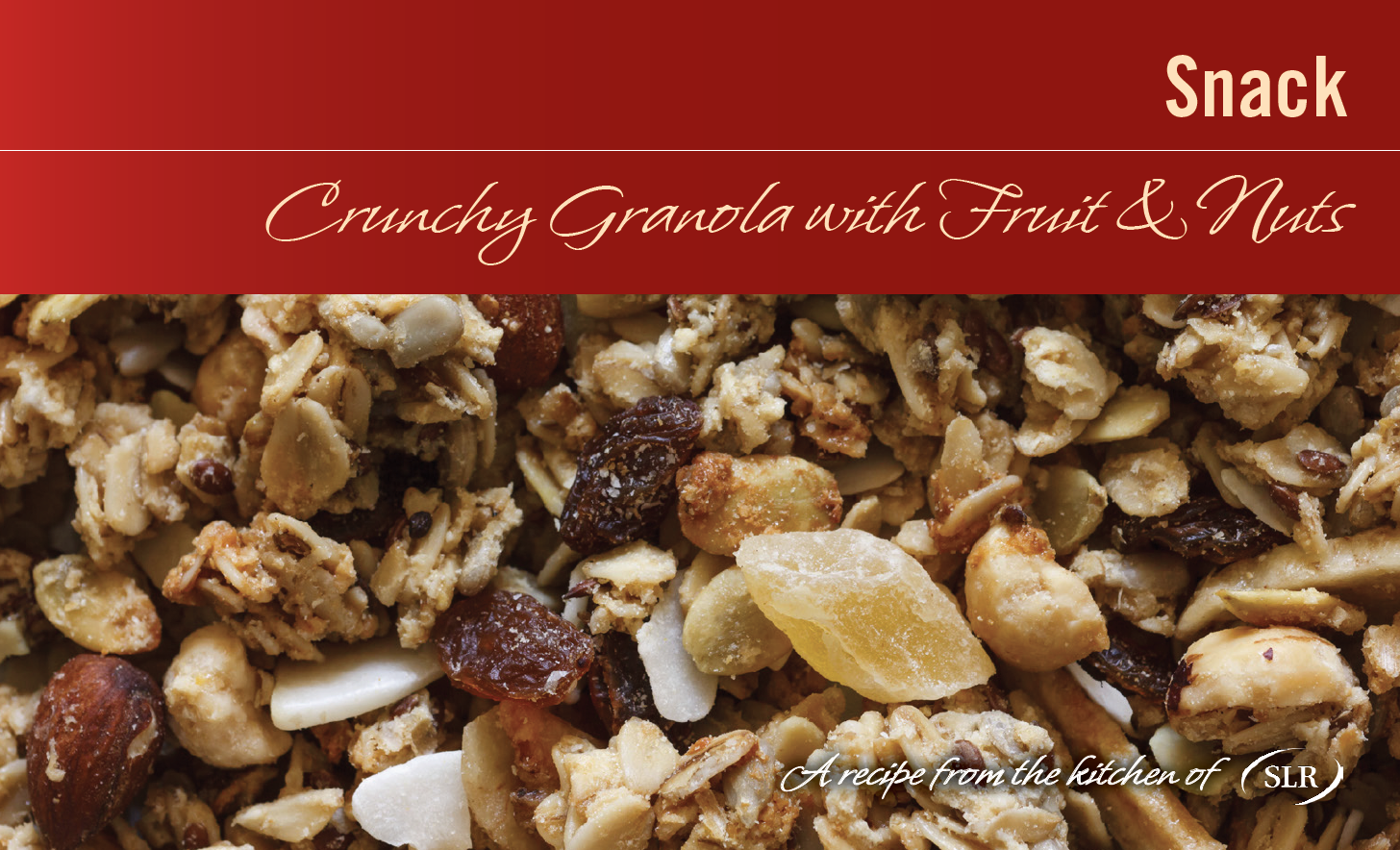 Crunchy Granola with Fruit & Nuts recipe card