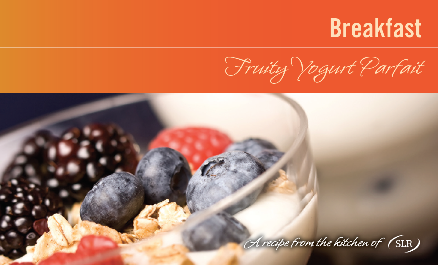 Fruity Yogurt Parfait recipe card