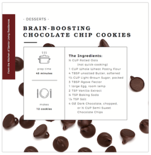 Brain-Boosting Chocolate Chip Cookies recipe card