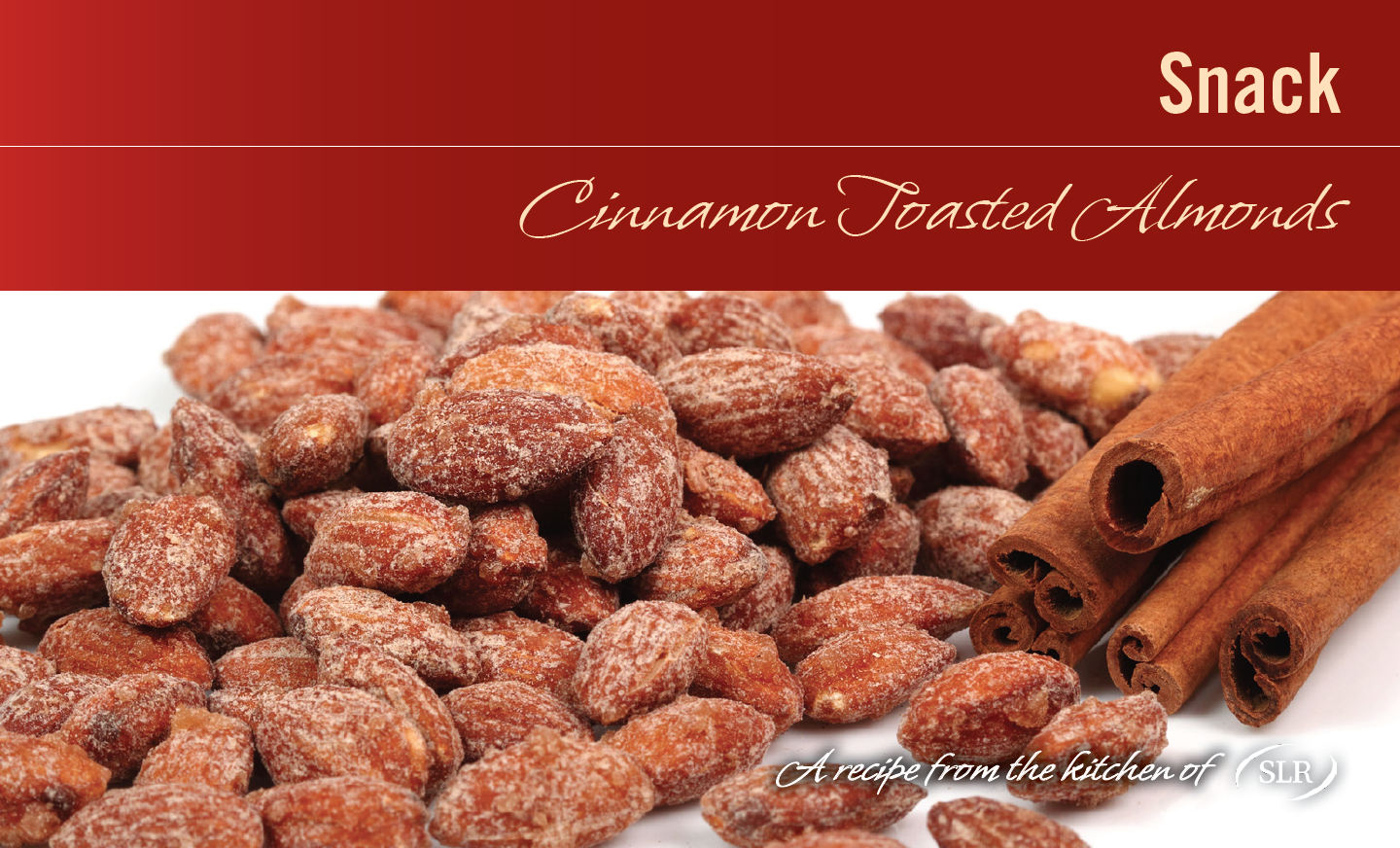 Cinnamon Spiced Almonds recipe card