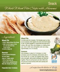 Whole Wheat Pita Chips with Hummus recipe card