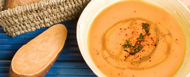 Cinnamon Swirl Creamy Sweet Potato Soup