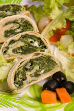 Fresh Spinach, Feta & Egg Wrap