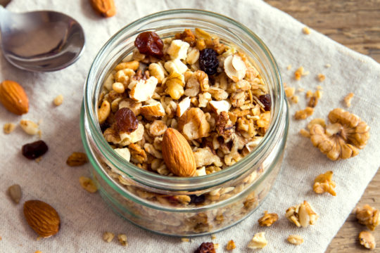 Crunchy Granola with Fruit & Nuts