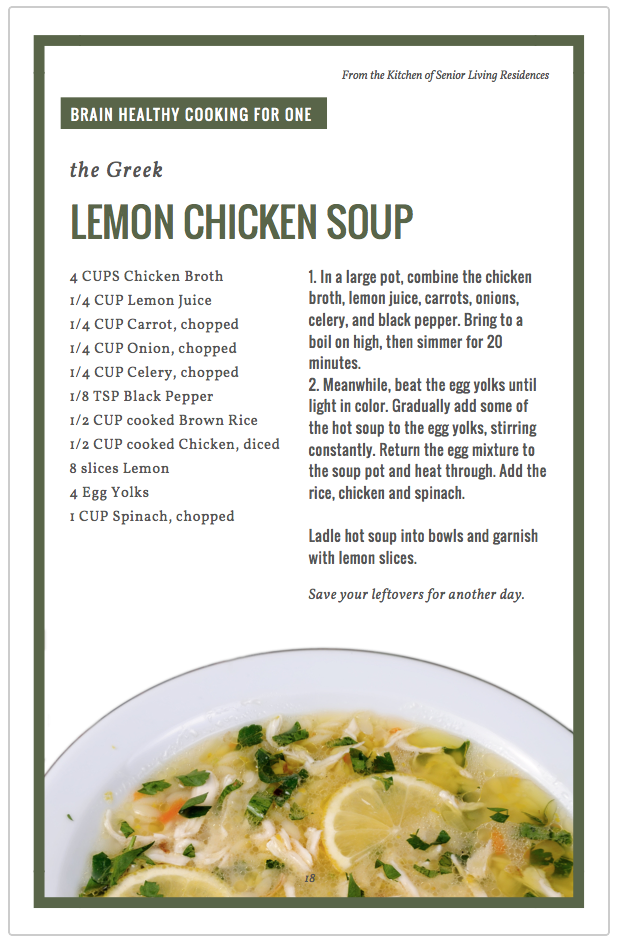 Lemon Chicken Soup recipe card