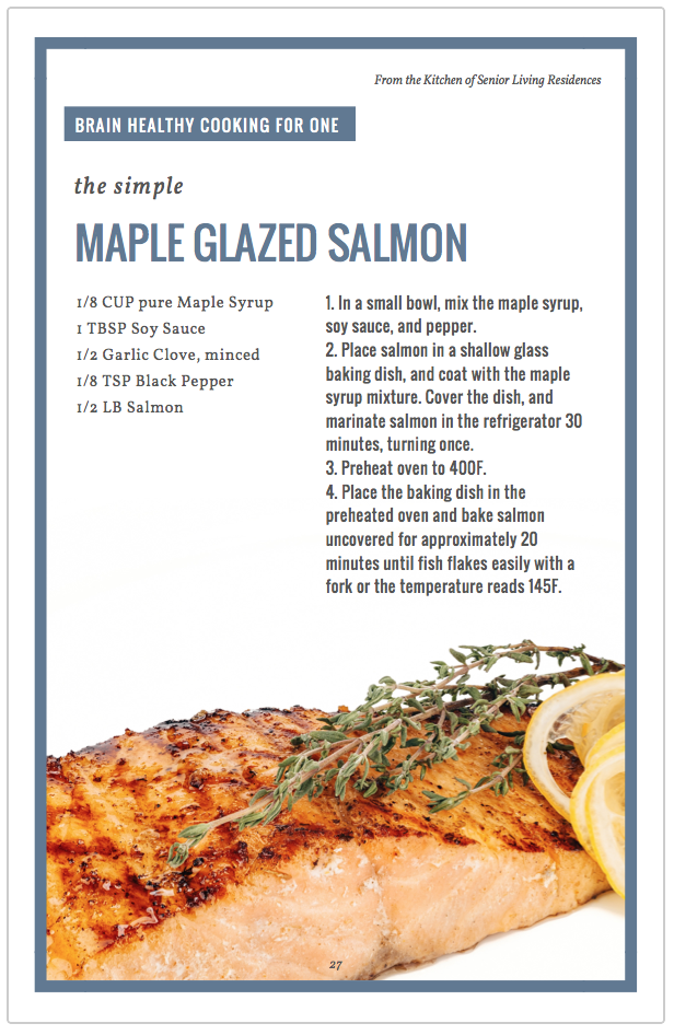 Maple Glazed Salmon recipe card