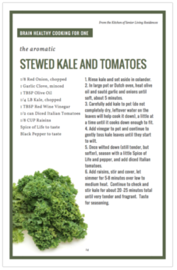 Stewed Kale and Tomatoes recipe card