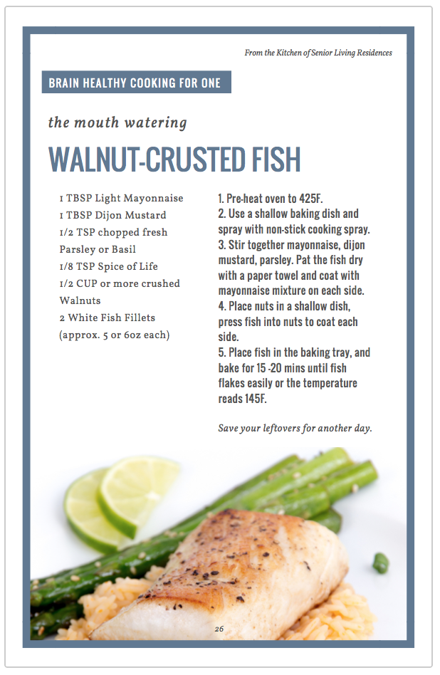 Walnut-Crusted Fish recipe card