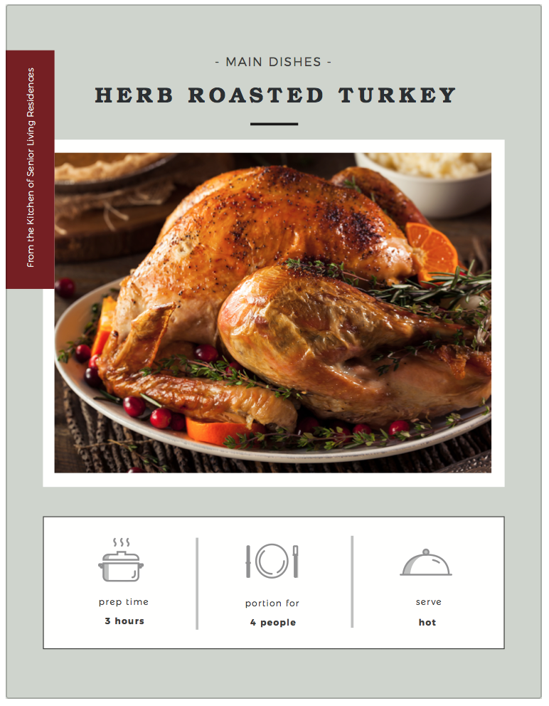 Herb Roasted Turkey recipe card