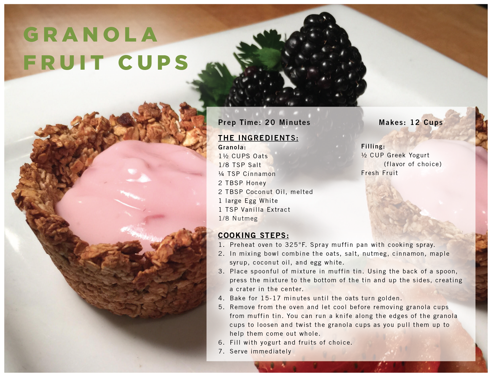 Granola Fruit Cups recipe card