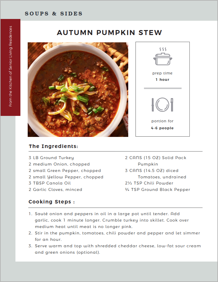 Autumn Pumpkin Stew recipe card