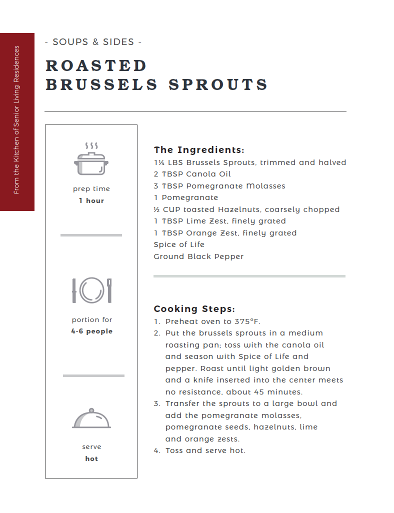 Roasted Brussel Sprouts recipe card