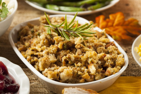Whole Grain Apple Cranberry Stuffing