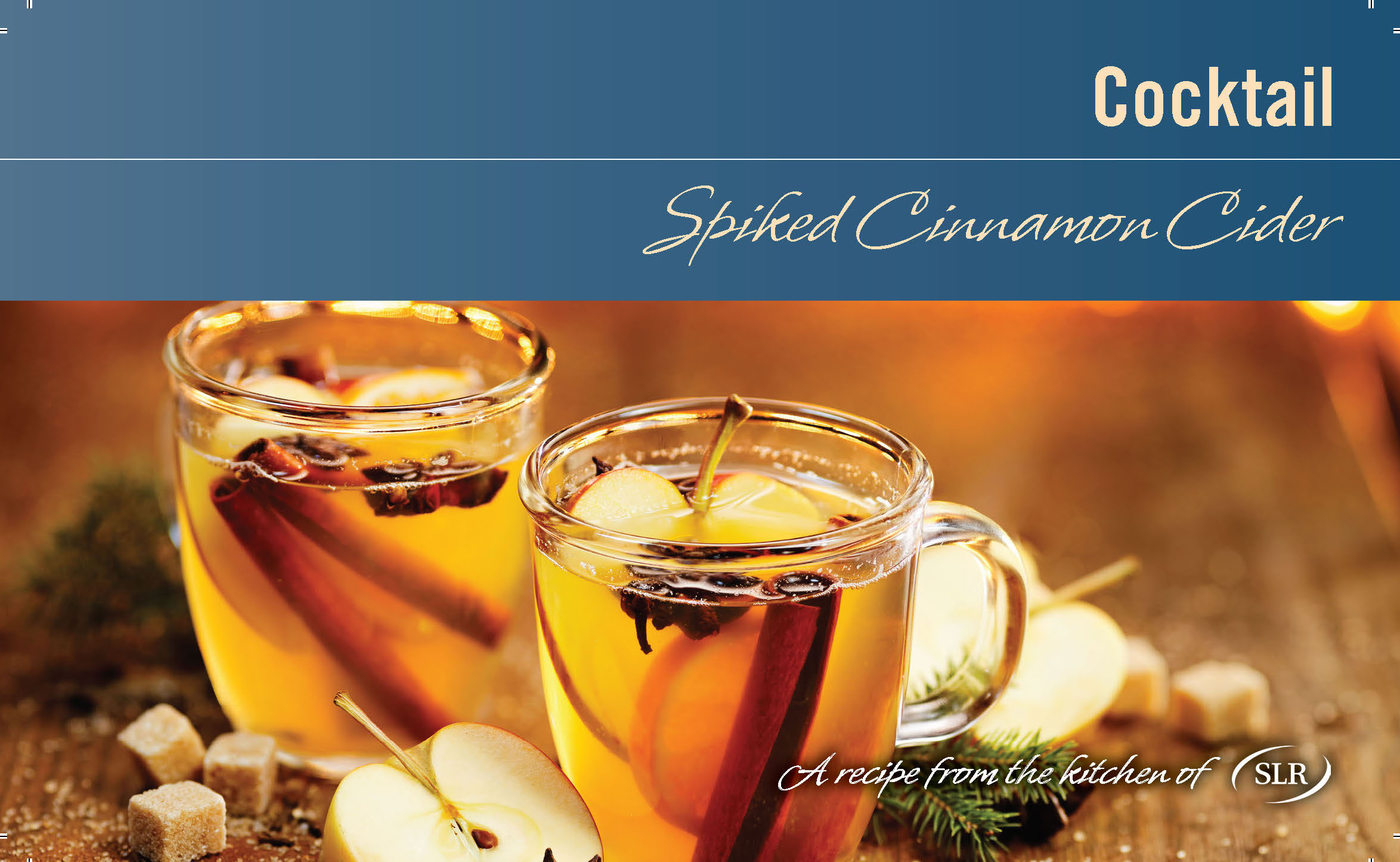 Spiked Cinnamon Cider recipe card