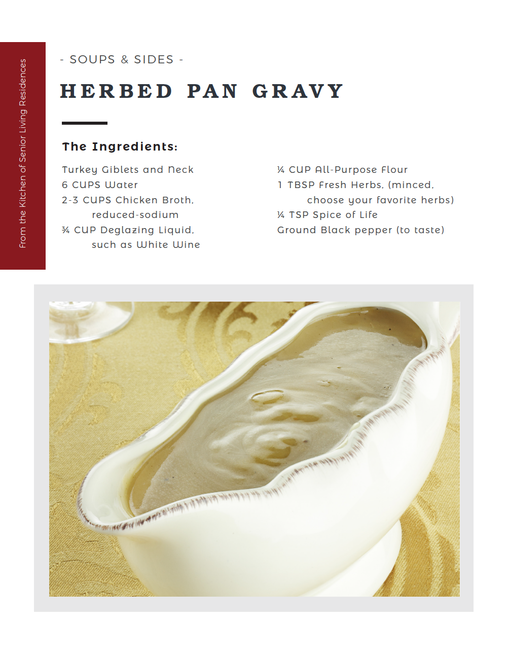 Herbed Pan Gravy recipe card