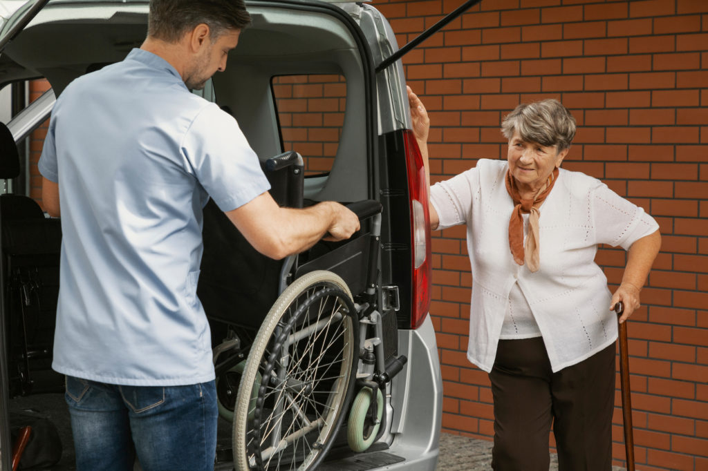 Transportation for seniors with wheelchair