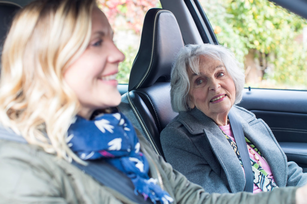 Seniors have access to transportation; Uber and Lyft